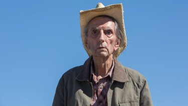 Finding poignancy in unlikely places: Harry Dean Stanton in <i>Lucky</i>.