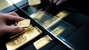 Safe havens like gold slipped after strong gains in recent days.