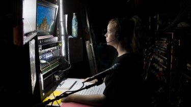 Deputy stage manager Holly Robinson calls the shots at