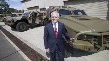 """A hackneyed photo op in front of military hardware will not convince the public."""