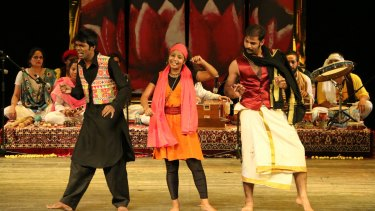 A scene from Piya Behrupiya, an award-winning theatre production of Twelfth Night by Mumbai's the Company Theatre.