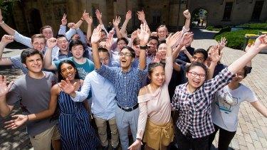 Top-scoring VCE students awarded Melbourne University's Chancellor's Scholarship.