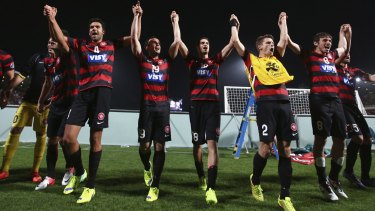 """The biggest club in Asia"": The Wanderers celebrate."