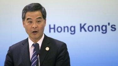 Audacious: Hong Kong Chief Executive Leung Chun-ying.