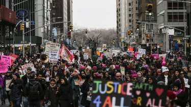 A tectonic shift? The Women's March in New York on January 20.