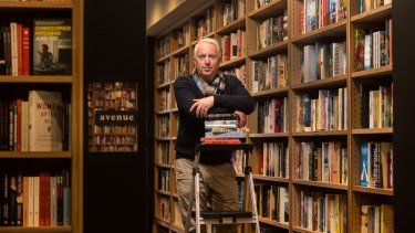 Reading between the lines: Chris Redfern in his new bookshop in Richmond.