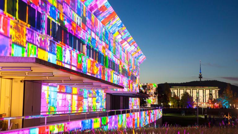 The 'Enlighten' festival in Canberra in March.