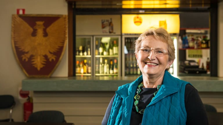 Polish Australian Club president Barbara Alwast.  The club will reopen this month after it was razed by a fire police believed was deliberately lit in January 2014.