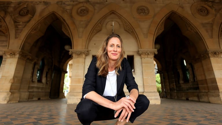 Sydney Biennale artistic director Stephanie Rosenthal at one of the festivals's 2016 venues, The Mortuary Station.