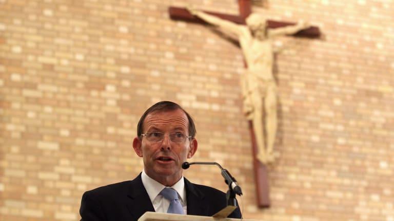 Staunch Catholic and same-sex marriage opponent Tony Abbott.