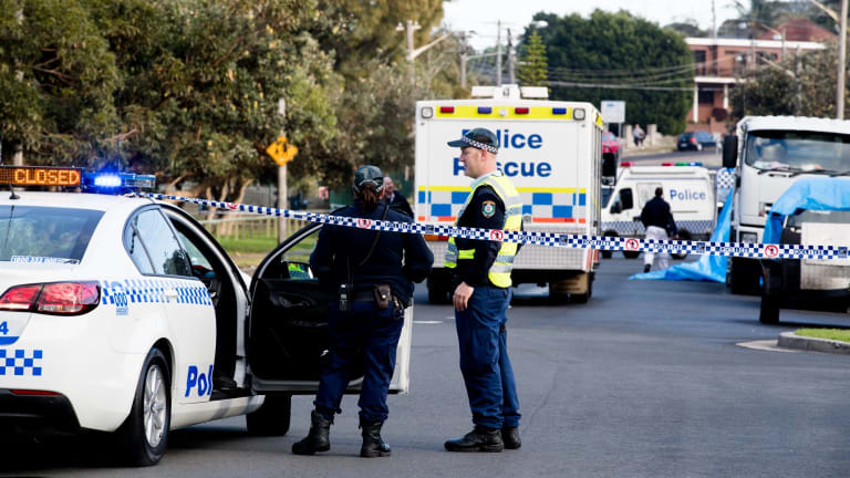 The crime scene on Mons Avenue in Maroubra on June 22 after Peter Hofmann's body was found.