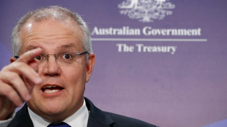 """""""In Australia our prices may be high, particularly in Sydney and Melbourne, but they're real,"""" says Scott Morrison."""