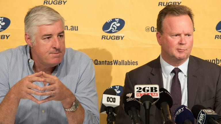 ARU chairman Cameron Clyne and chief executive Bill Pulver announced the Western Force would be cut from Super Rugby.