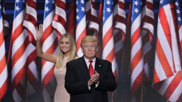 Ivanka Trump with dad Donald.