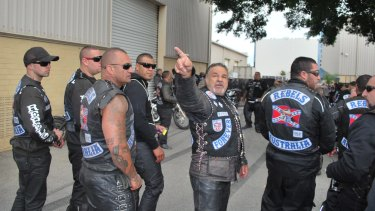 Rebels bikie gang members.