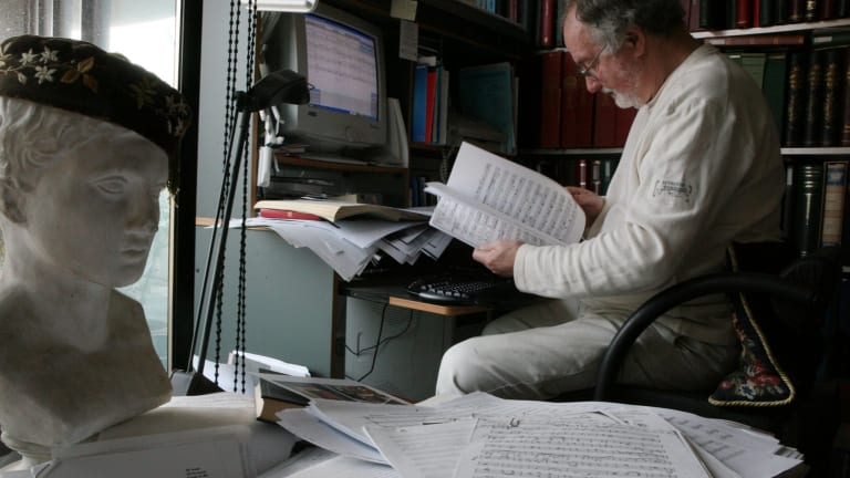 Divall in 2007, undertaking scholarly work on forgotten Australian music.