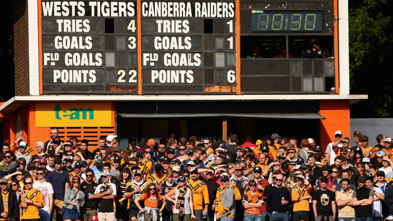 Leichhardt Oval saw 13,000 fans turn up at the Tigers' home ground to watch their team beat the Raiders on Sunday.
