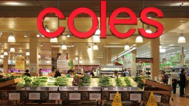 Coles said low fruit and vegetable prices hurt its sales.