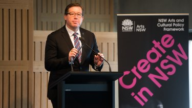 Deputy premier Troy Grant shared the stage at  the launch of Artlands with Dubbo mayor Mathew Dickerson. But the pair disagree over issues of council mergers and arts funding.