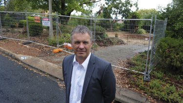 Wayne Harriden, project marketing director for the Independent Property Group, at 51 Holmes Crescent, Campbell.