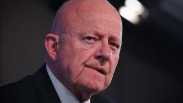 James Clapper, former US director of national intelligence, addressed the National Press Club in Canberra on Tuesday.