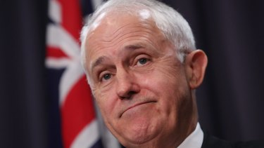 Prime Minister Malcolm Turnbull after meeting with AGL boss Andy Vesey in September.
