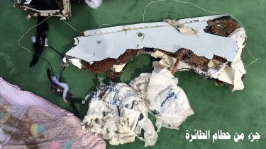 Further images of flight 804's wreckage bare EgyptAir's official logo alongside passenger luggage.
