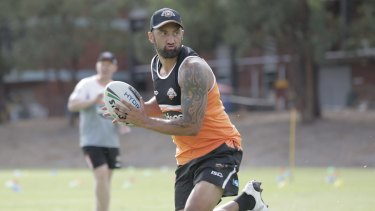 Return set: Benji Marshall will play for the Tigers in their trial against the Sharks in late February.