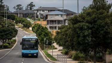 The influx of residents to suburbs such as Oran Park and Gledswood Hills will have to wait years for new public transport options.