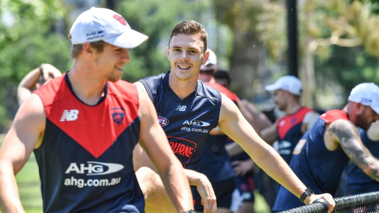 Lever trains with the Dees on Monday.
