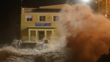 Coogee's surf lifesaving clubhouse suffered extensive damage.