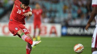 Decisive: Sardar Azmoun's strike settled the group c match.