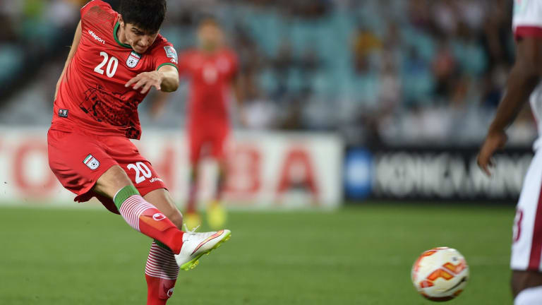 Decisive: Sardar Azmoun's strike settled the group c match.