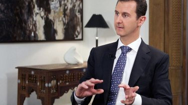 In an apparent response to the Bild interview with Russian President Vladimir Putin, Syrian President Bashar al-Assad had nothing to say on Mr Putin's suggestion Mr Assad may be given asylum in Russia.