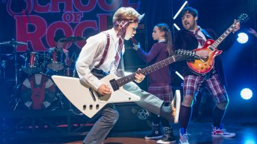 Rocking their school socks off: the London production of <i>School of Rock</i>, the musical.