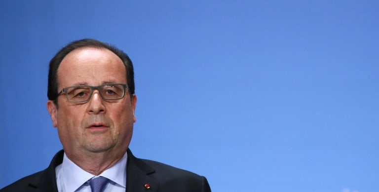 French President Francois Hollande confirmed MS804 had crashed.