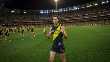 Victorious: Daniel Rioli kicked four goals in Richmond's win over the Giants.