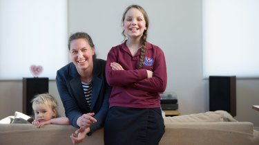 Emily Meyer has been helping deliver the ethics program at Toorak Primary School, which her daughter Jemima attends.