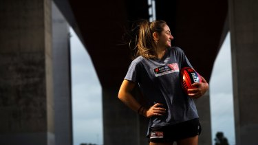 Multi-talented: Monique Conti is part of the first AFL Women's academy.
