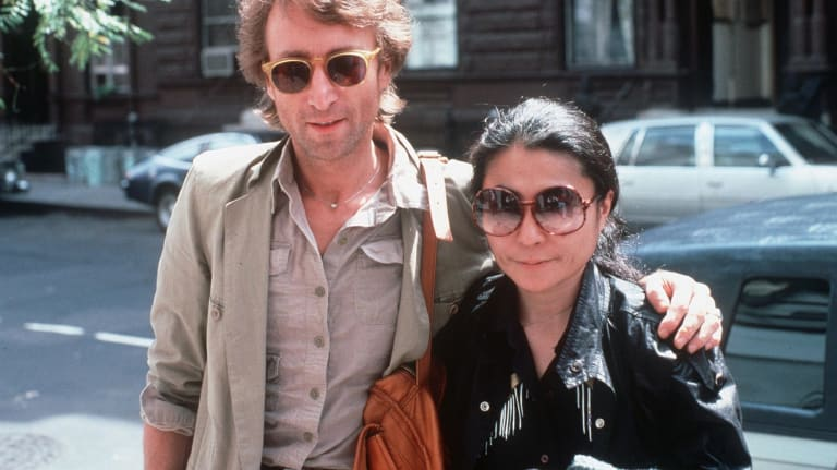 John Lennon and his second wife, Yoko Ono, pictured in 1980.