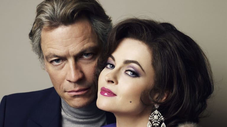 Well-made biopic: Dominic West and Helena Bonham Carter in <i>Burton and Taylor</i>.