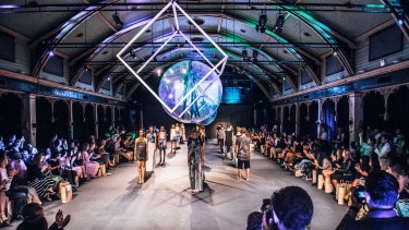 The work of Undress Runways' on show in Melbourne.