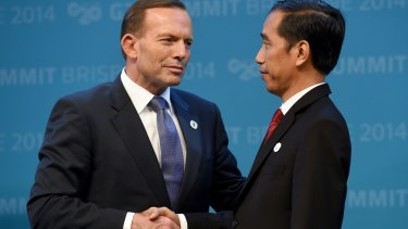 Prime Minister Tony Abbott, pictured with Indonesian President Joko Widodo.