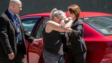 Tiahleigh's foster mother Julene Thorburn as she was taken into custody.