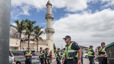 Police say they are 'aware of a dispute taking place' at the mosque.