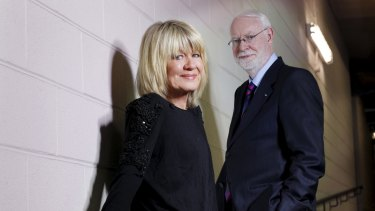 With her long-time screen partner David Stratton.