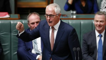 Malcolm Turnbull is being pulled by his colleagues towards the right fringe.