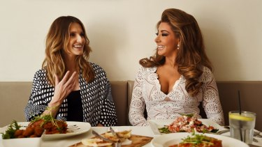 Quick change artist: Gina Liano (right) has always dressed well, as befitting her European heritage, and has it down to a fine art.