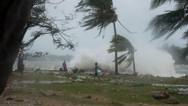 Aftermath of Cyclone Pam.