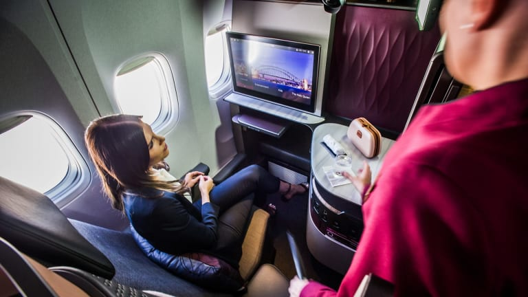 Qsuite cabins are fully-adjustible and come equipped with the latest bells and whistles.